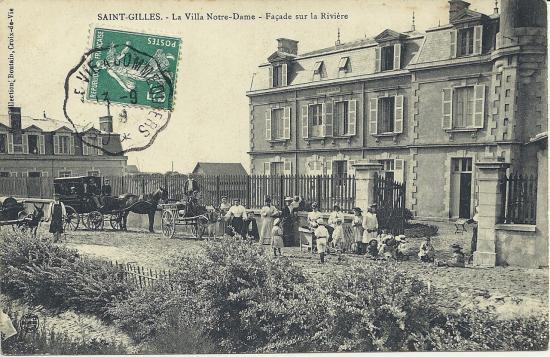 St-Gilles-sur-Vie, la villa Notre-Dame, façade sur la rivière.