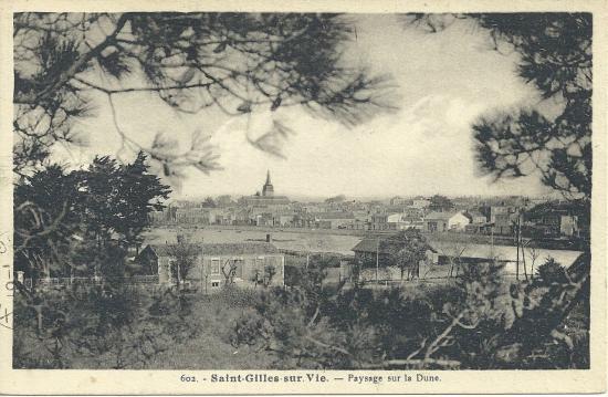 St-Gilles-sur-Vie, paysage sur la dune.