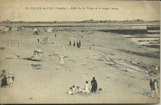 Croix-de-Vie, effet de la plage à marée basse.
