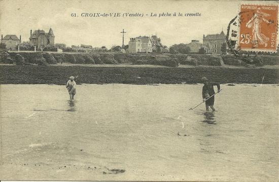 Croix-de-Vie, la pêche à la crevette.