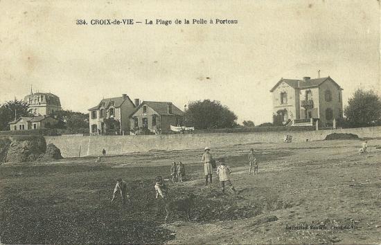 Croix-de-Vie, la plage de la Pelle à Porteau.