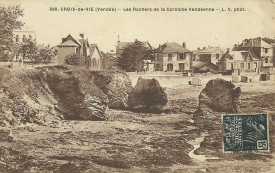 Croix-de-Vie, les rochers de la corniche vendéenne.