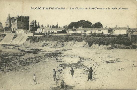 Croix-de-Vie, les chalets de Port-Terrasse à la villa Miramar.