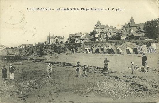 Croix-de-Vie, les chalets de la plage de Boisvinet.