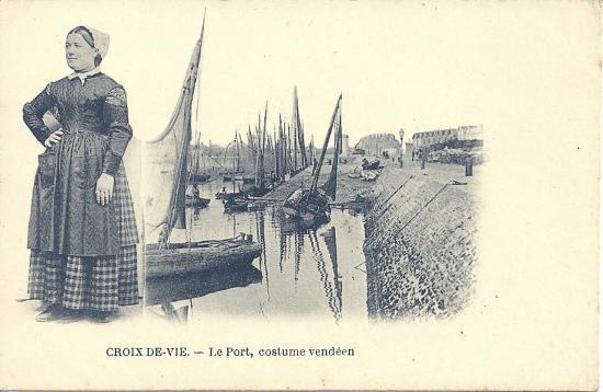 Croix-de-Vie, le port costume vendéen.