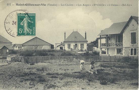 St-Gilles-sur-Vie, les chalets L'Océan, Ste-Odile et Les Anges.