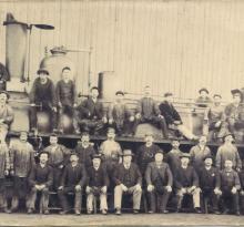 Croix-de-Vie, personnel du dépôt de la gare.