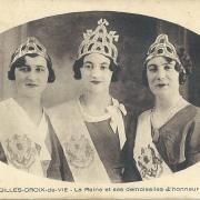 St-Gilles-Croix-de-Vie, la Reine et ses demoiselles d'honneur.