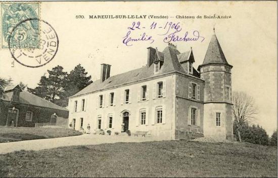 Mareuil-sur-le-Lay, château de St-andré.