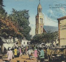 Croix-de-Vie, le marché et l'église.