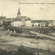 St-Gilles-sur-Vie, panorama des deux ponts.