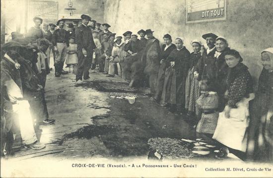 Croix-de-Vie, la poissonnerie.