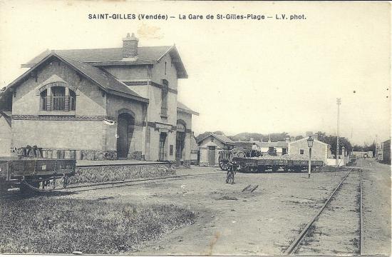 St-Gilles-sur-Vie, la gare de St-Gilles plage.