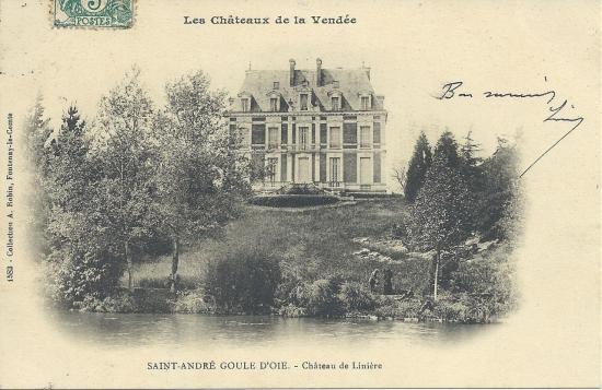 St-André Goule d'Oie, le château de la Linière.