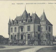 Bazoges-en-Paillers, le château de la Rairie.