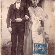 Au marais vendéen, mariés maraichins.