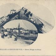 St-Gilles et Croix-de-Vie, la gare, la plage et le pont.
