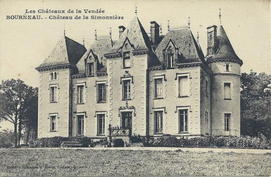 Bourneau, le château de la Simonnière.