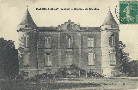 Mareui-sur-Lay, château de Beaulieu.