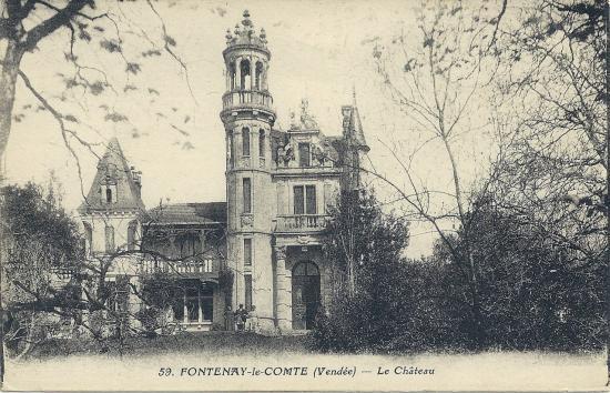 Fontenay-le-Comte, le château.