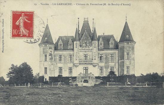 La Garnache, château de Fonteclose.