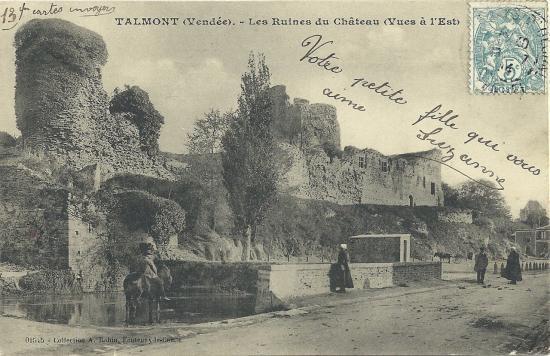 Talmont, les ruines du château.