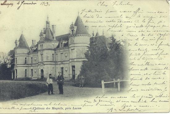 Luçon, château des Magnils.