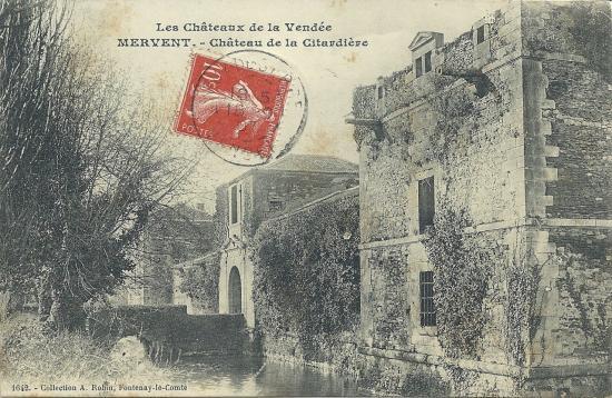 Mervent, le château de la Citardière.