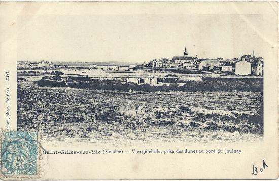 St-Gilles-sur-Vie, vue générale, prise des dunes.