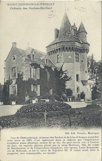 St-Germain-le-Prinçay,  le château des Roches-Baritaut.