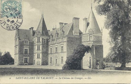 St-Hilaire-de-Talmont, le château des Granges.