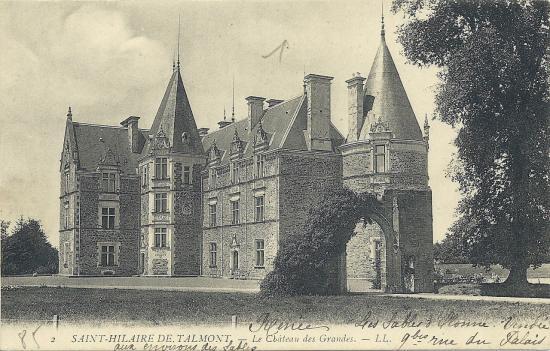 St-Hilaire-de-Talmont, le château des Grandes.