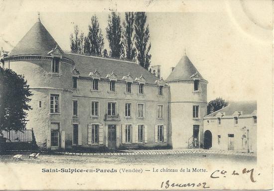 St-Sulpice-en-Pareds, le château de la Motte.