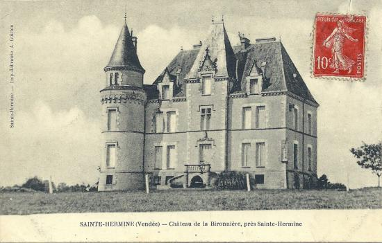 Ste-Hermine, le château de la Bironnière.