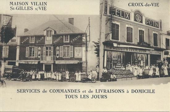 St-Gilles-Croix-de-Vie, Magasins Félix Potin.