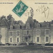 Faymoreau, le château.