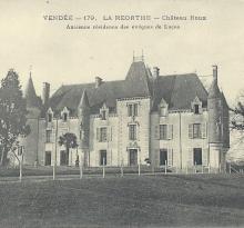 La Réorthe, château Roux.