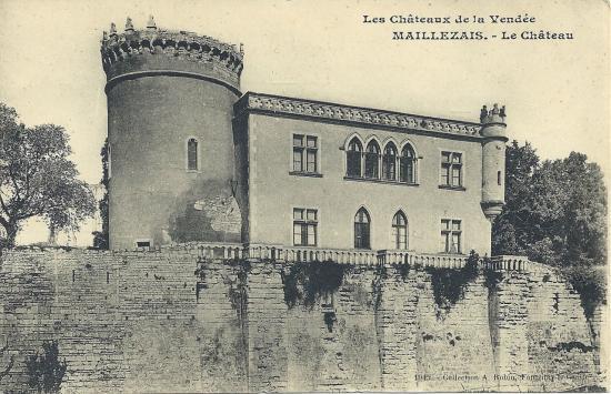 Maillezais, le château.