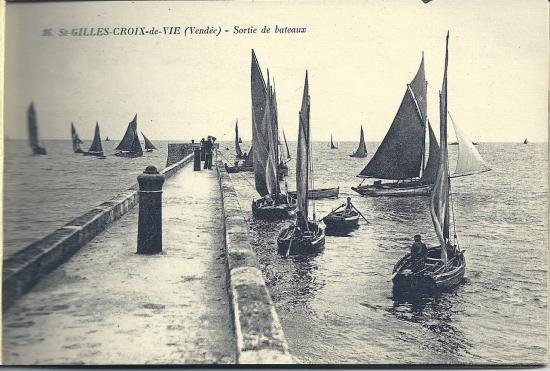St-Gilles-Croix-de-Vie, sortie de bateaux.