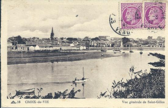 Vue générale de St-Gilles-sur-Vie.