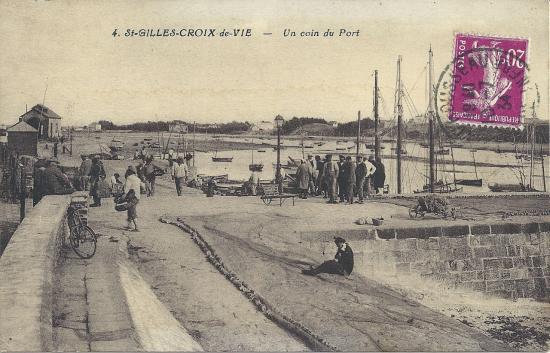 St-Gilles-Croix-de-Vie, un coin du port.