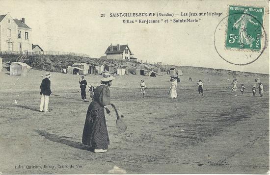 St-Gilles-sur-Vie, les jeux sur la plage.