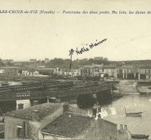 St-Gilles-Croix-de-Vie, panorama des deux ponts.