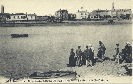 St-Gilles-sur-Vie, le port et le Quai Gorin.