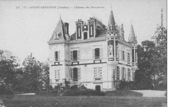 Les Landes-Genusson, château des boucheries.