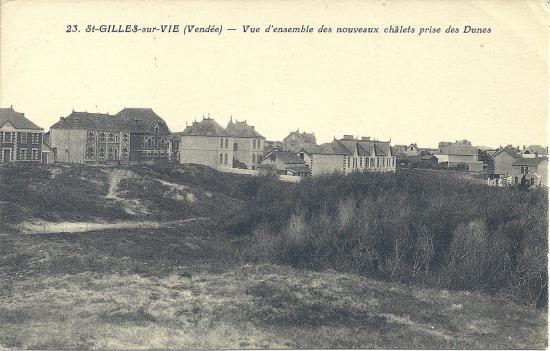 St-Gilles-sur-Vie, vue d'ensemble des nouveaux chalets.