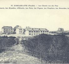 St-Gilles-sur-Vie, villas Les Tamaris, Les Mouettes, l'Atlantic.