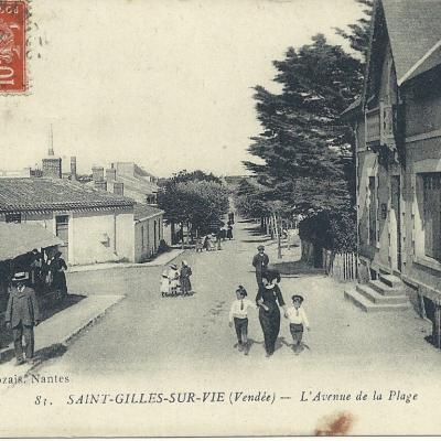 L'avenue de la plage de Saint-Gilles-sur-Vie