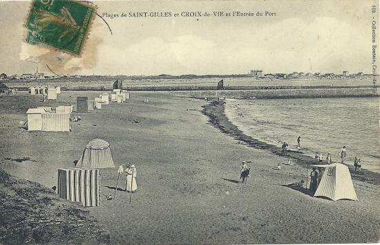 Croix-de-Vie, les plages.