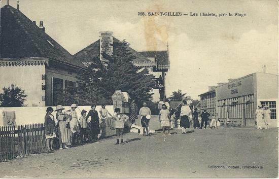 St-Gilles-sur-Vie, les chalets près de la plage.